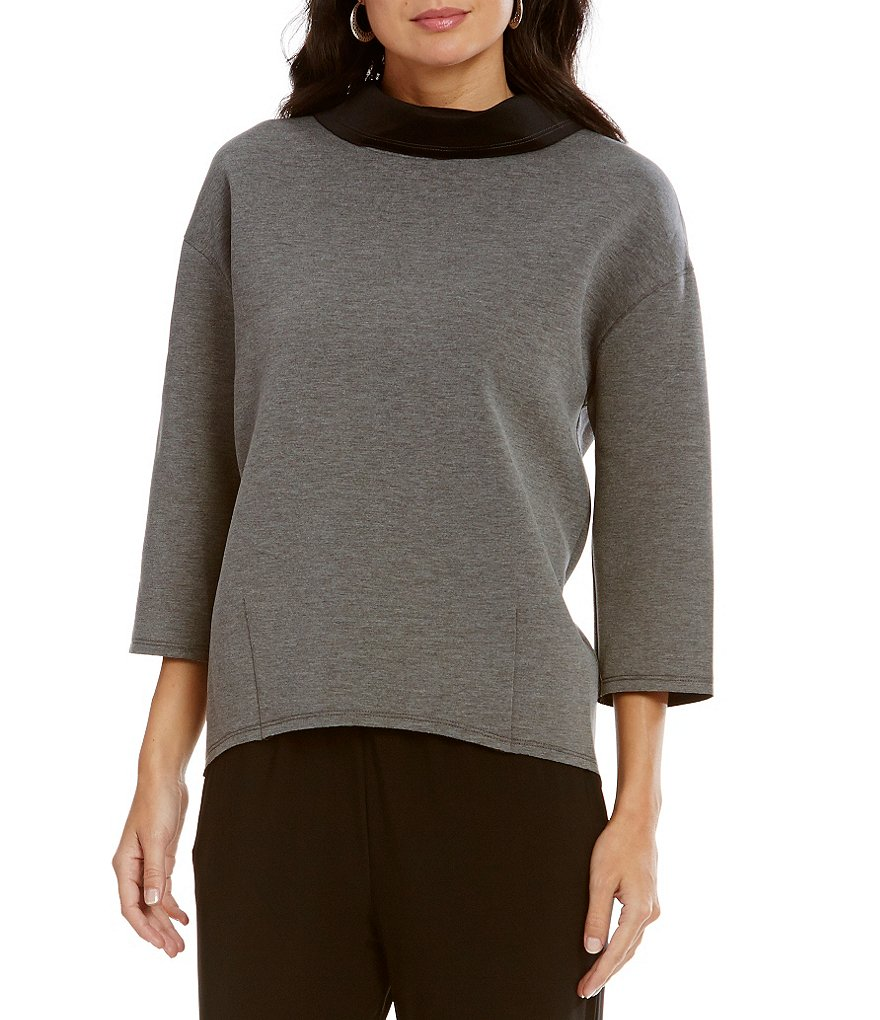 IC Collection Funnel Neck Boxy Top