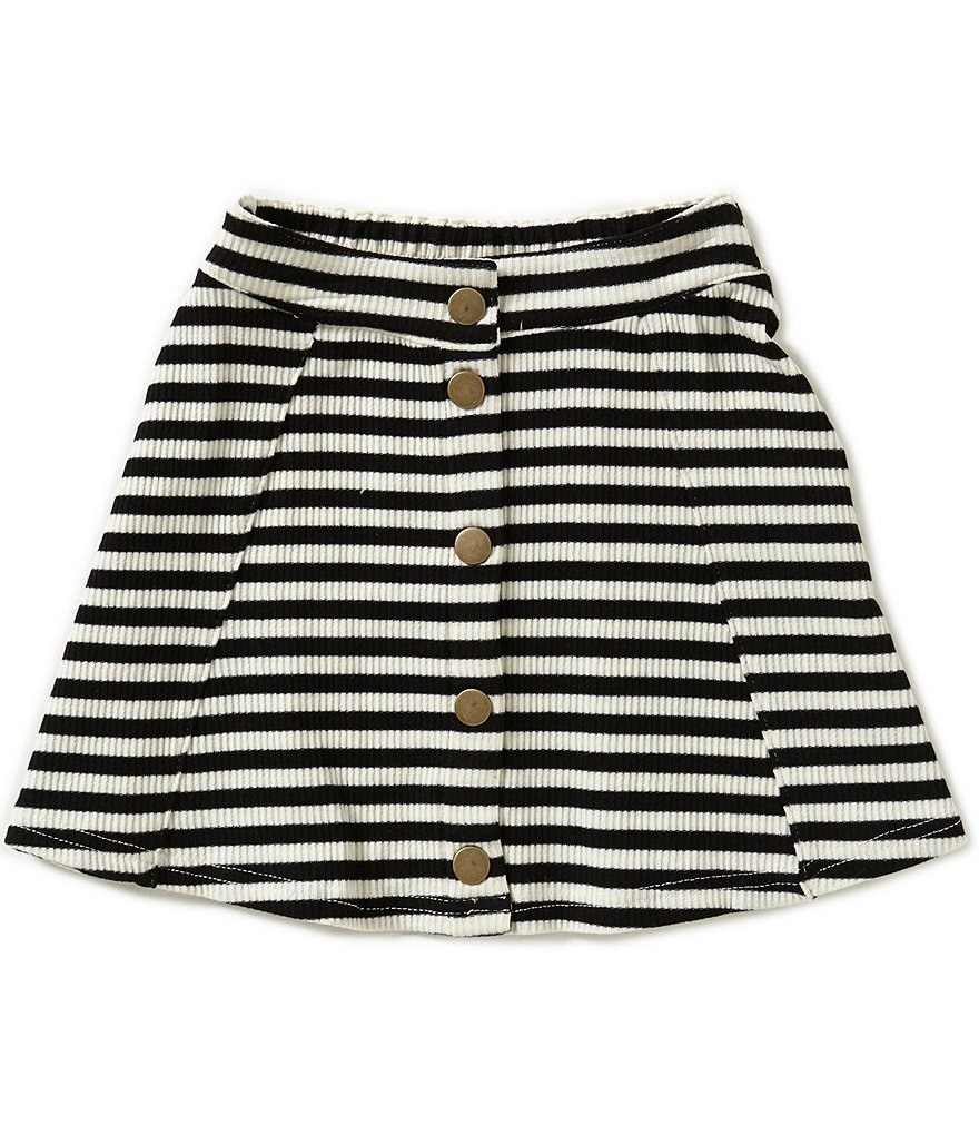 GB Girls Little Girls 4-6X Striped Button Front Skirt