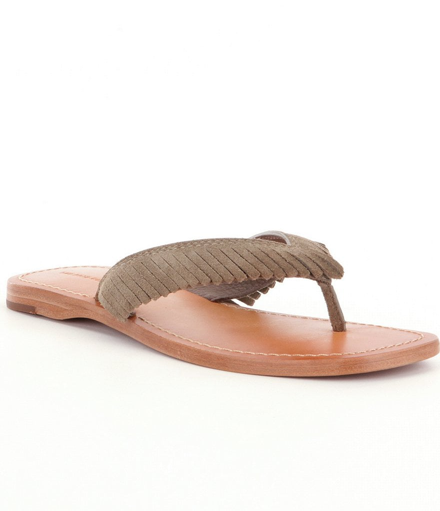 Frye Perry Feathered Thong Sandals