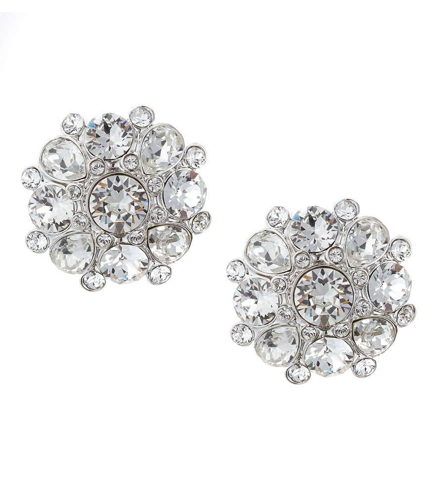 Nina Crystal Cluster Stud Earrings