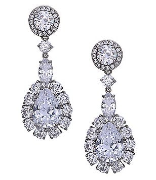Nina Crystal Cluster Teardrop Earrings