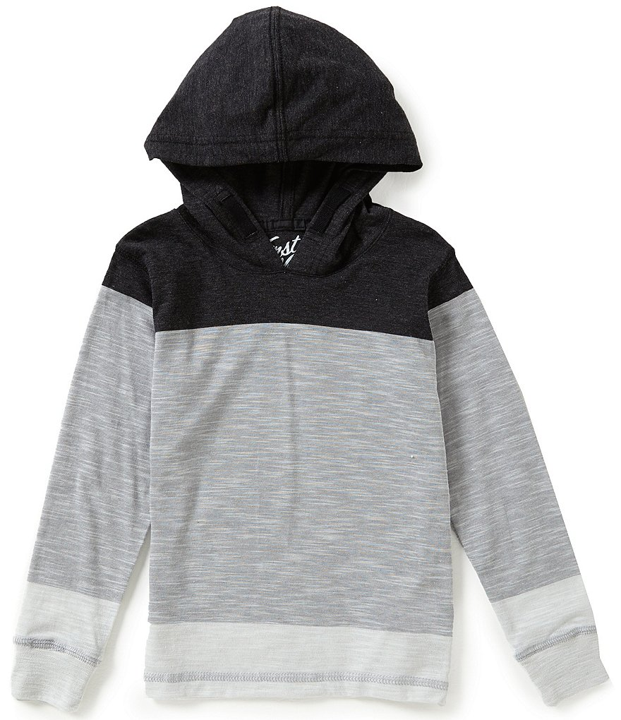First Wave Little Boys 2T-7 Wide Striped Hooded Shirt