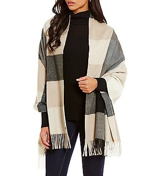 Fraas Cashmere Color Block Blanket Wrap