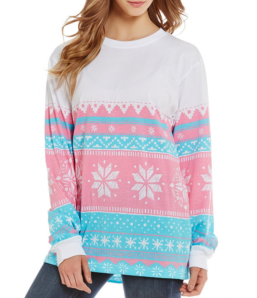 Lauren James Christmas Snowflake Long-Sleeve Tee