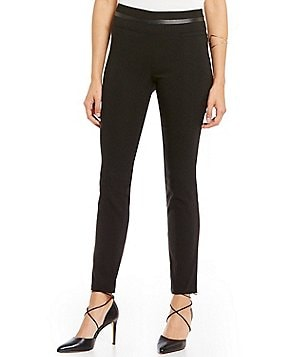 Takara Faux-Leather Waist Pull-On Pants
