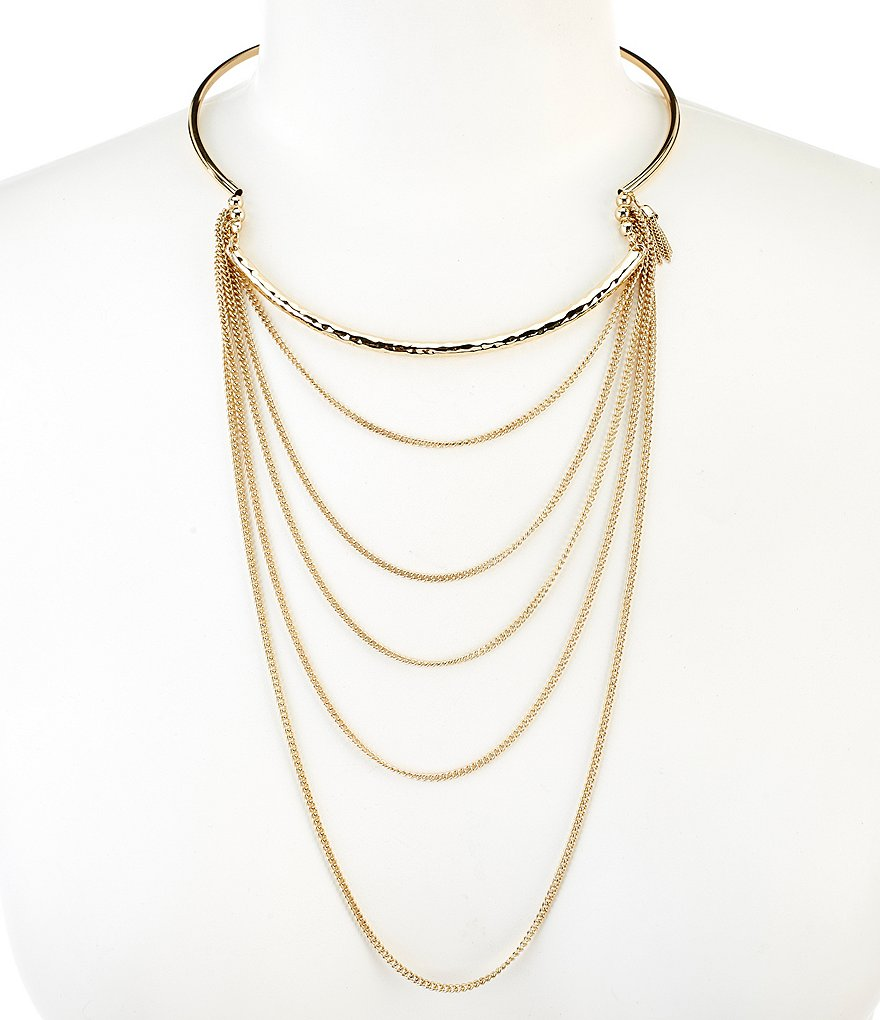 Anna & Ava Gwen Dangle Chain Choker Necklace