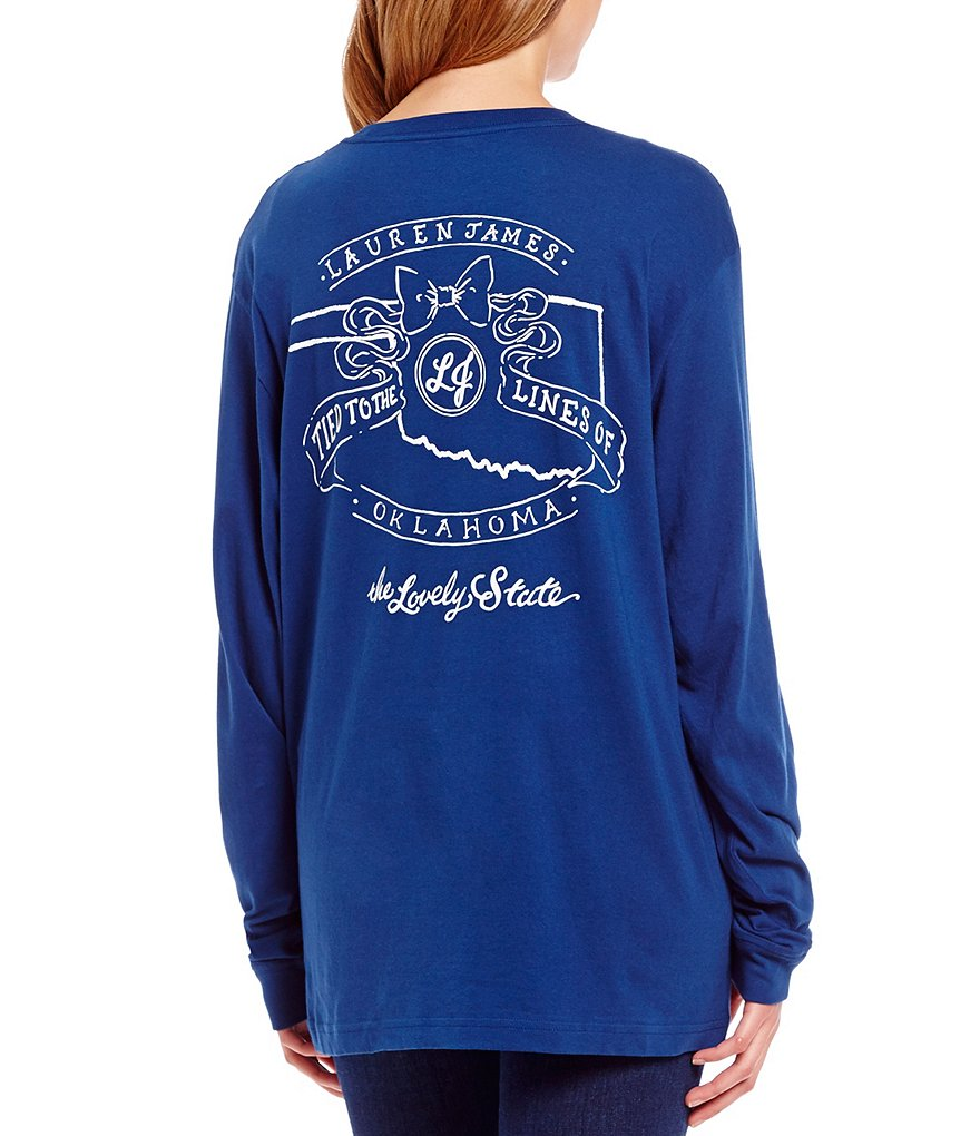 Lauren James Tied To Oklahoma Long-Sleeve Graphic Tee