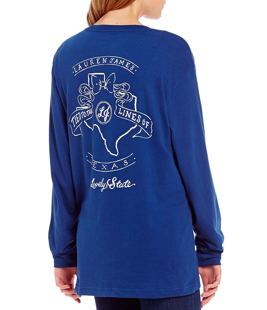 Lauren James Tied To Texas Long-Sleeve Graphic Tee