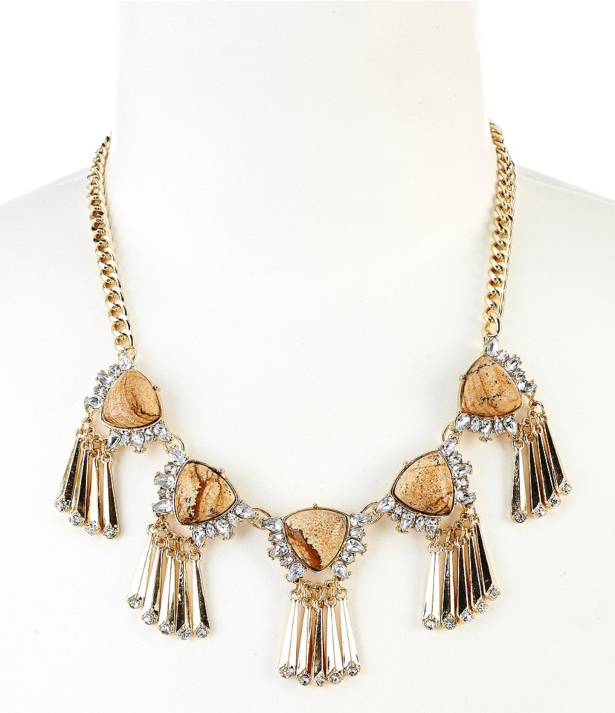 Anna & Ava Jasper Stone Statement Necklace
