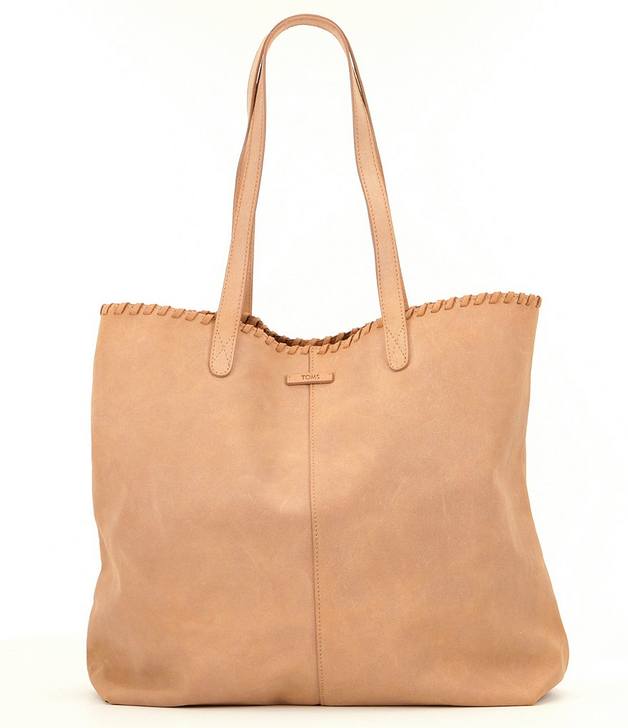TOMS Distressed Leather Cosmopolitan Tote