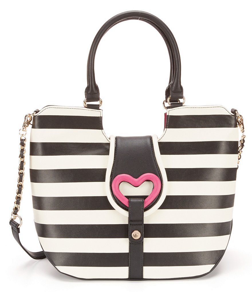 Betsey Johnson Loop-di-Loo Striped Tote