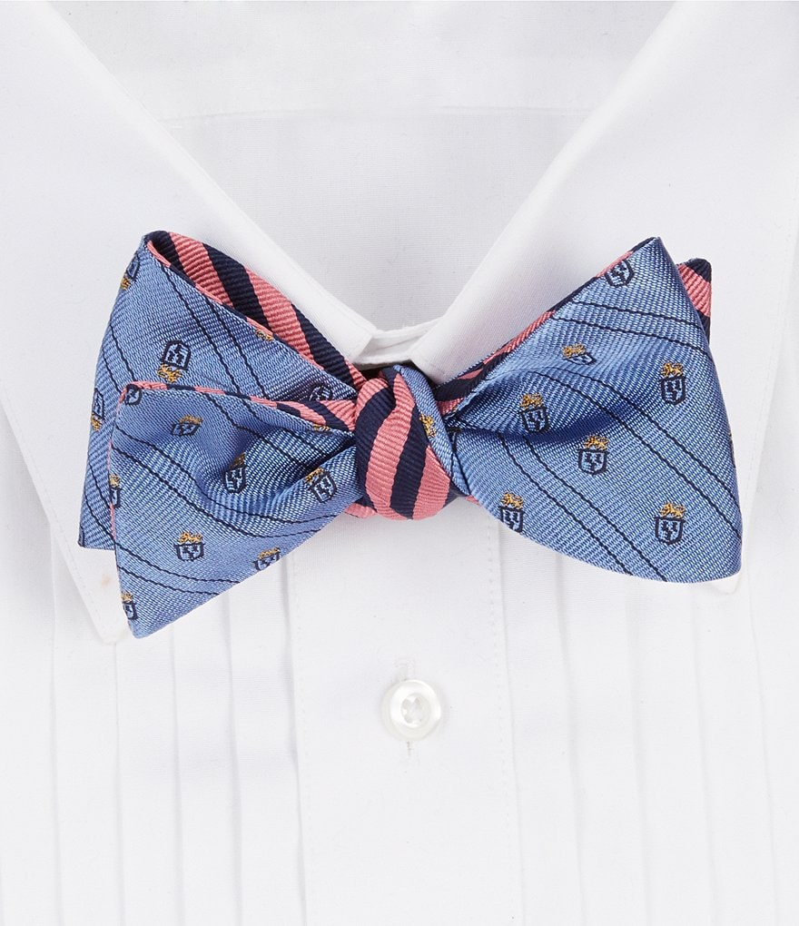 Brooks Brothers Mini Lion Crest Reversible Silk Bow Tie