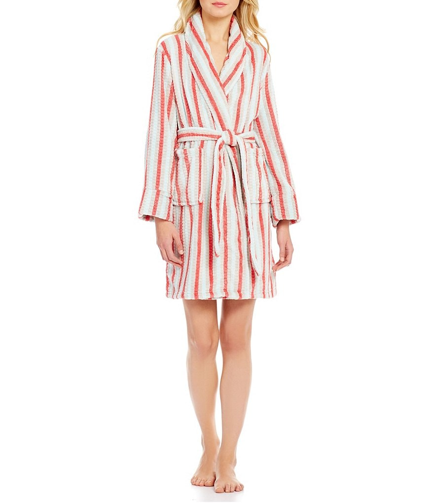 Sleep Sense Striped Plush Robe