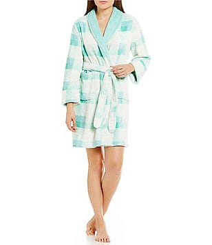 Sleep Sense Plaid Plush Robe