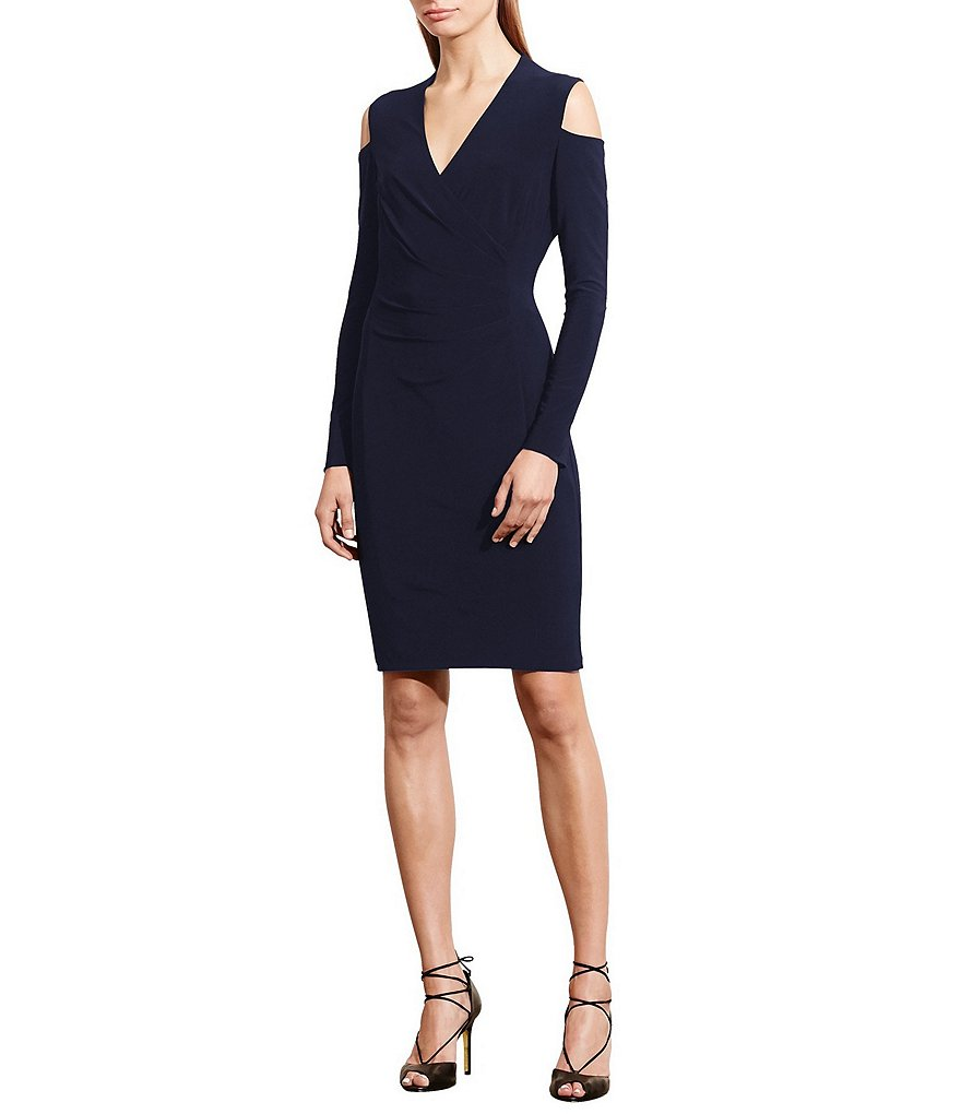 Lauren Ralph Lauren Cold Shoulder Jersey Sheath Dress