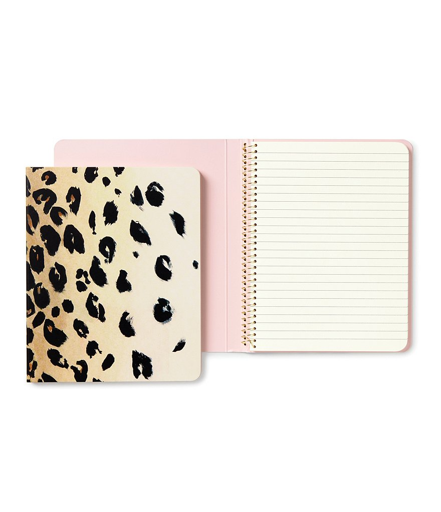 kate spade new york Leopard Concealed Spiral Notebook
