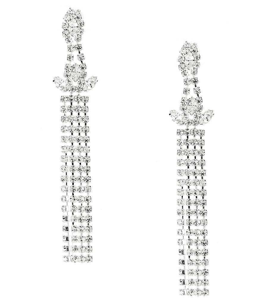 Cezanne Crown Strands Drop Earrings