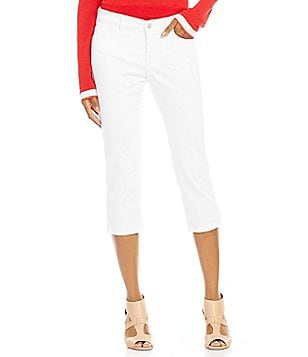 NYDJ Karen 5-Pocket Pull-On Solid Capri
