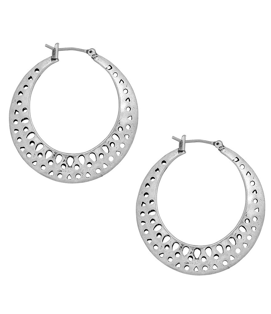 Lucky Brand Openwork Hoop Earrings