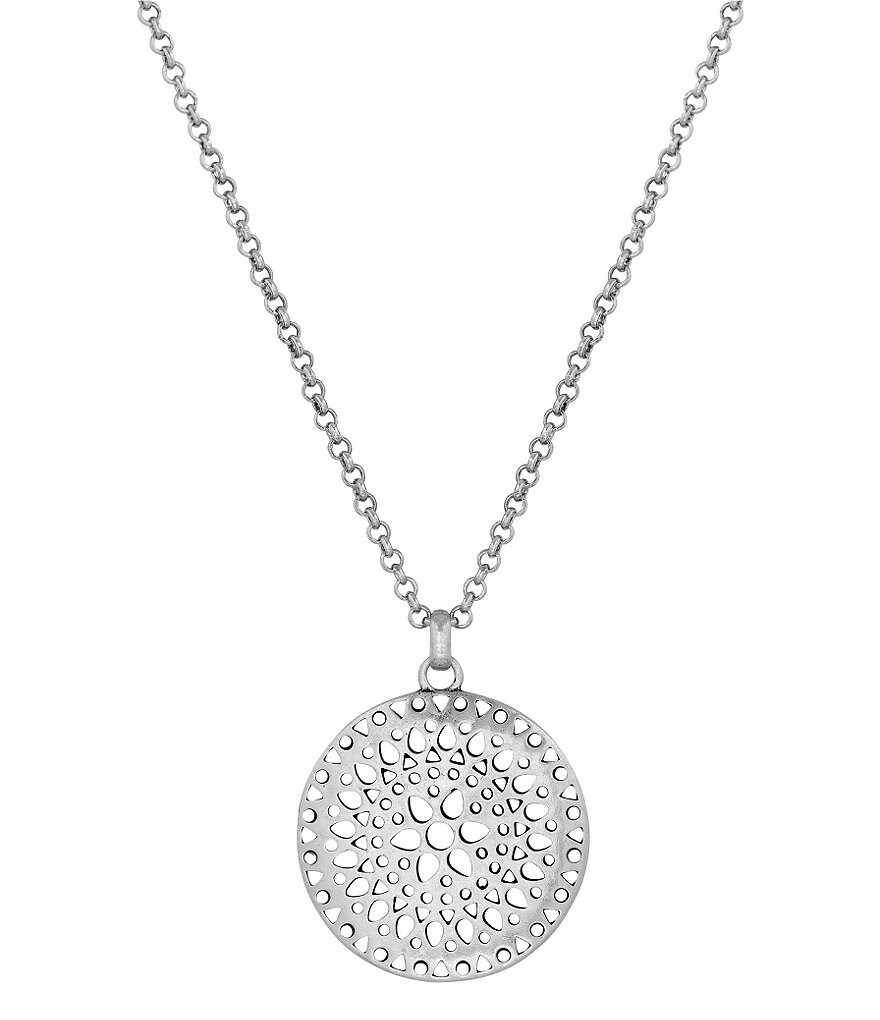 Lucky Brand Openwork Pendant Necklace