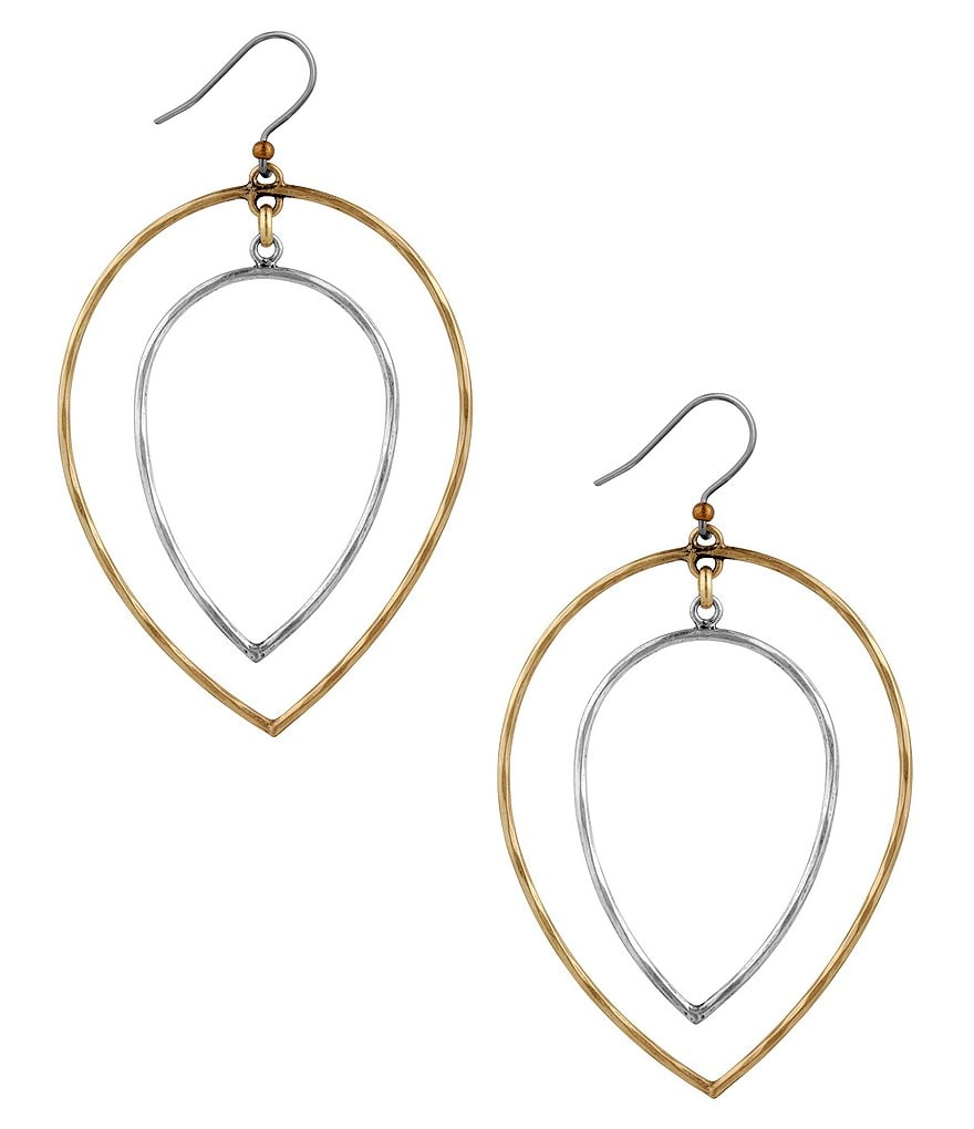 Lucky Brand Two-Tone Orbital Drop Earrings