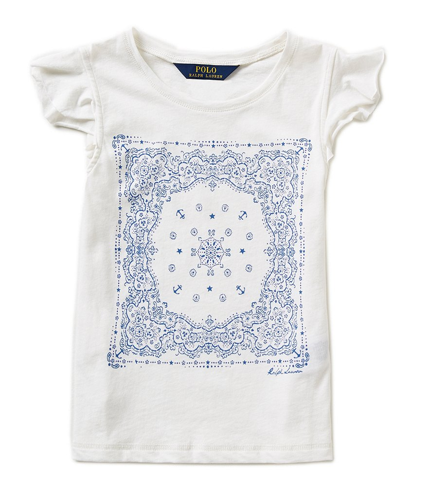 Ralph Lauren Childrenswear Big Girls 7-16 Nautical-Graphic-Print Tee