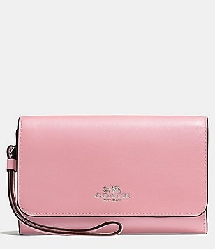 COACH BOXED PHONE CLUTCH IN CALF LEATHER