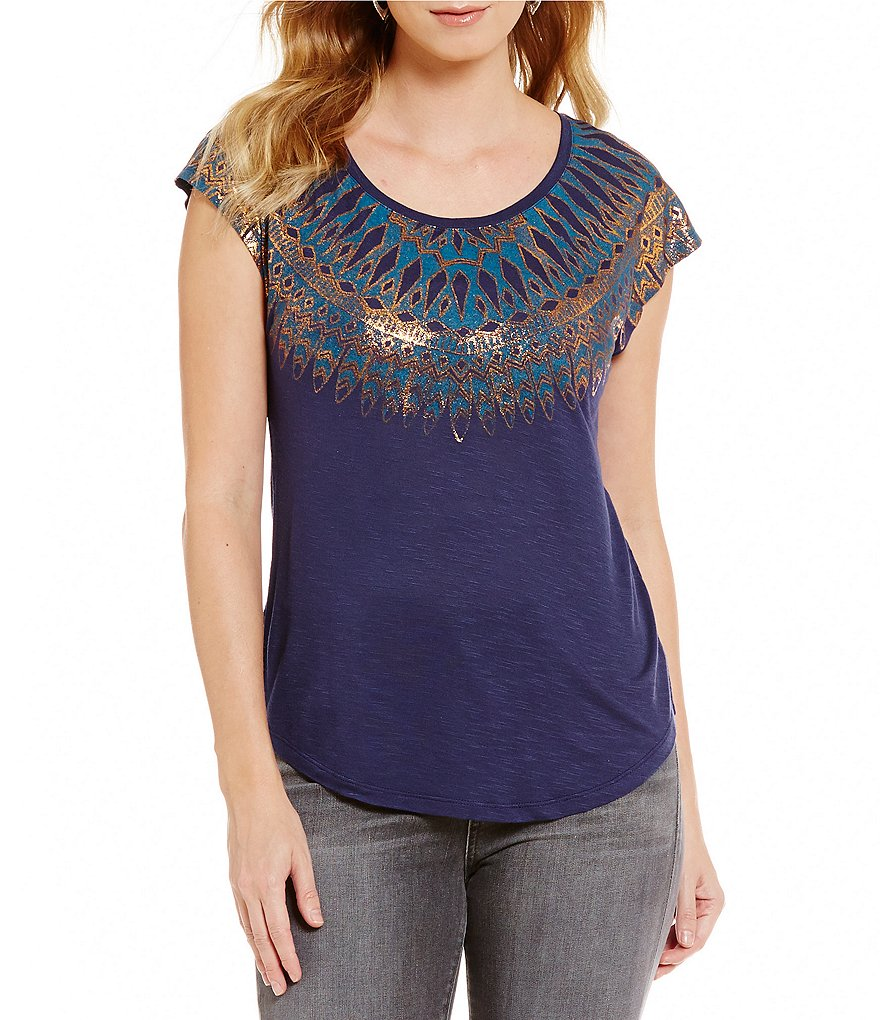 Lucky Brand Scoop Neck Short Sleeve Graphic Tee