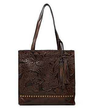 Patricia Nash Burnished Tooled Lace Collection Toscano Tote
