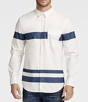 William Rast Baxtor Long-Sleeve Striped Shirt