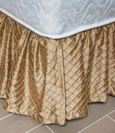 Austin Horn Classics Escapade Ruffled Metallic Bed Skirt