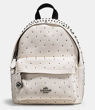 COACH BANDANA RIVETS MINI CAMPUS BACKPACK IN PEBBLE LEATHER