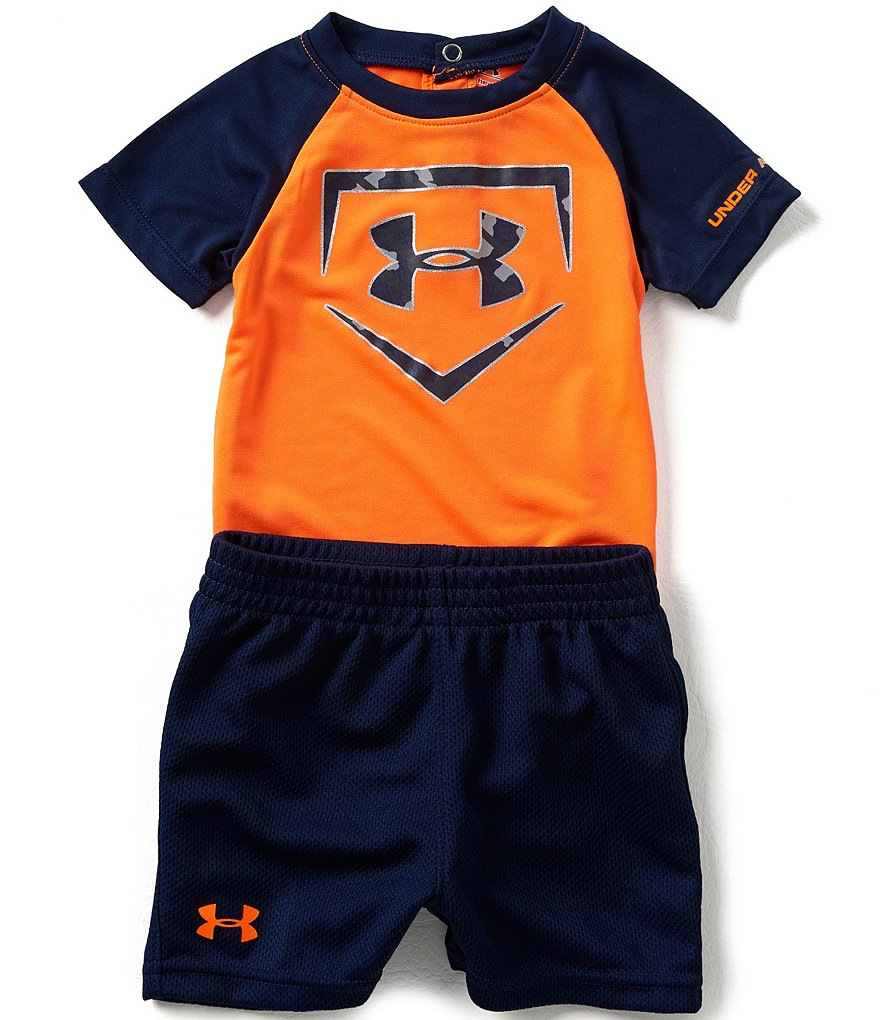 Under Armour Baby Boys Newborn-12 Months Home Base Bodysuit & Shorts Set