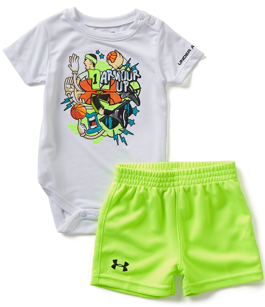 Under Armour Baby Boys Newborn-12 Months Armour Up Bodysuit & Shorts Set