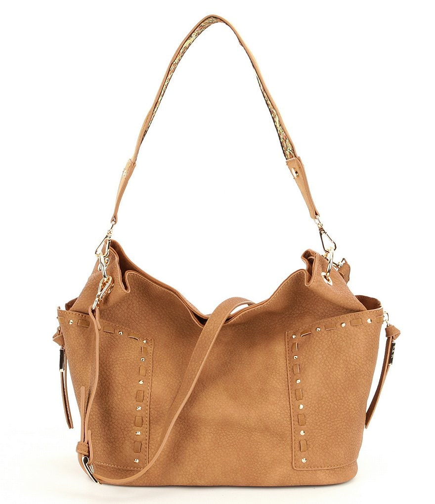 Steve Madden Kailyn Hobo Bag with Embroidered Guitar Strap