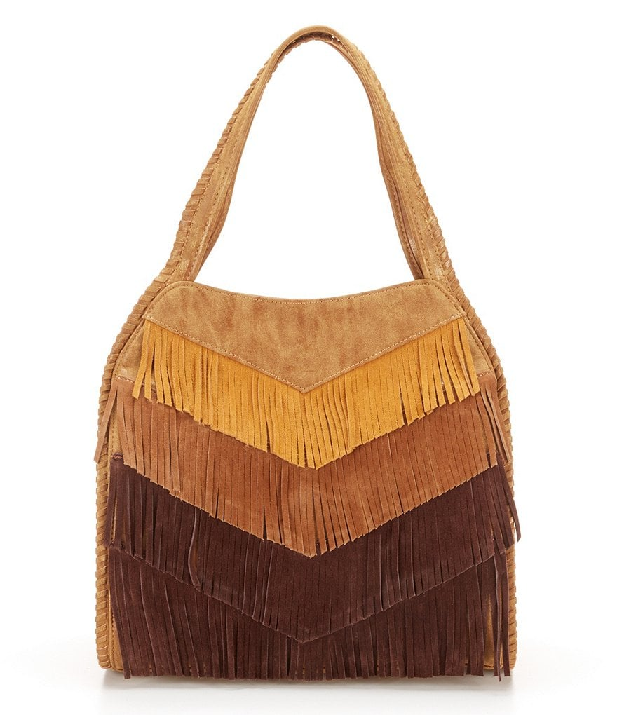 Steven by Steve Madden Elsa Fringed Hobo Bag
