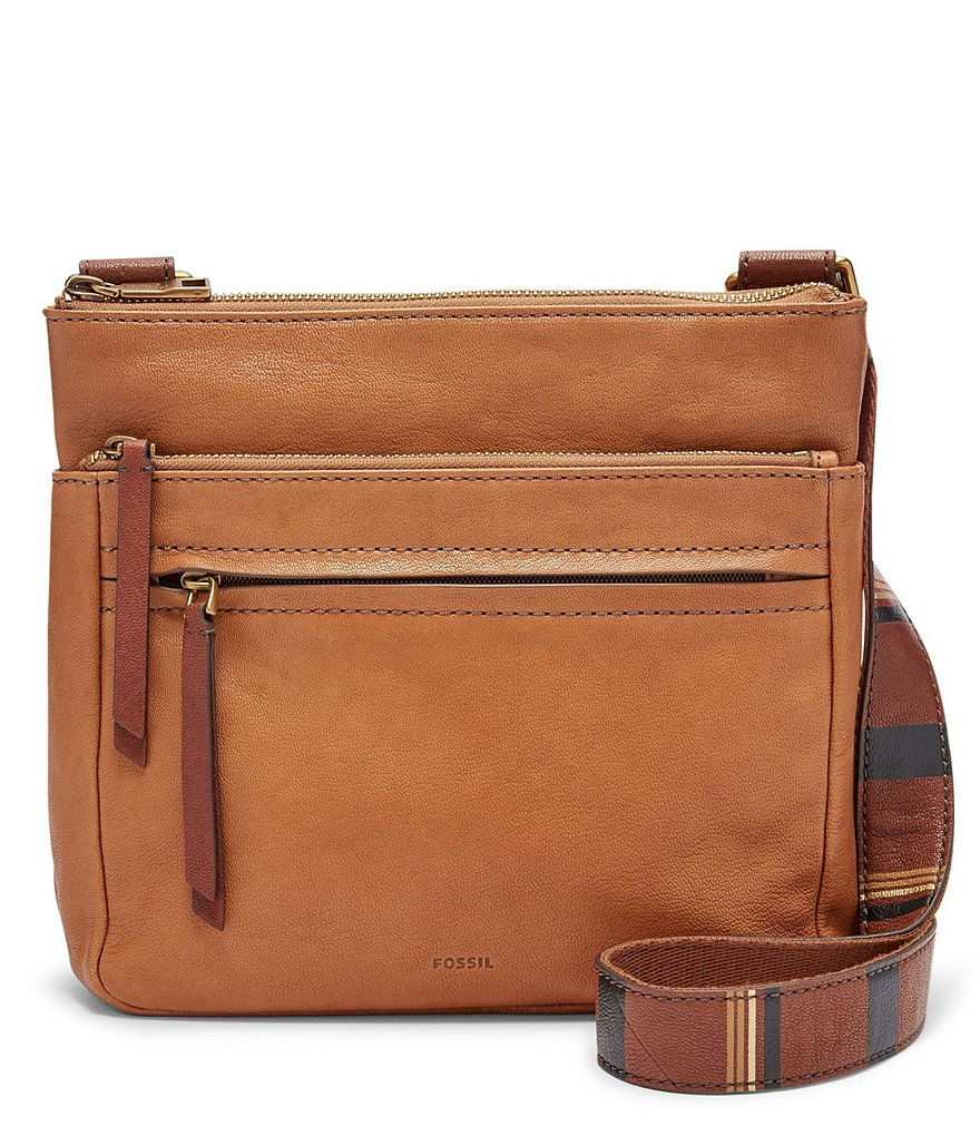 Fossil Corey Cross-Body Bag with Striped Strap
