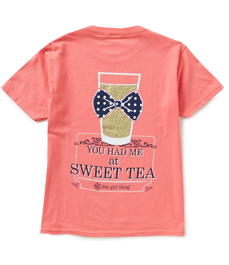 Itsa Girl Thing Big Girls 7-16 You Had Me At Sweet Tea Graphic Tee
