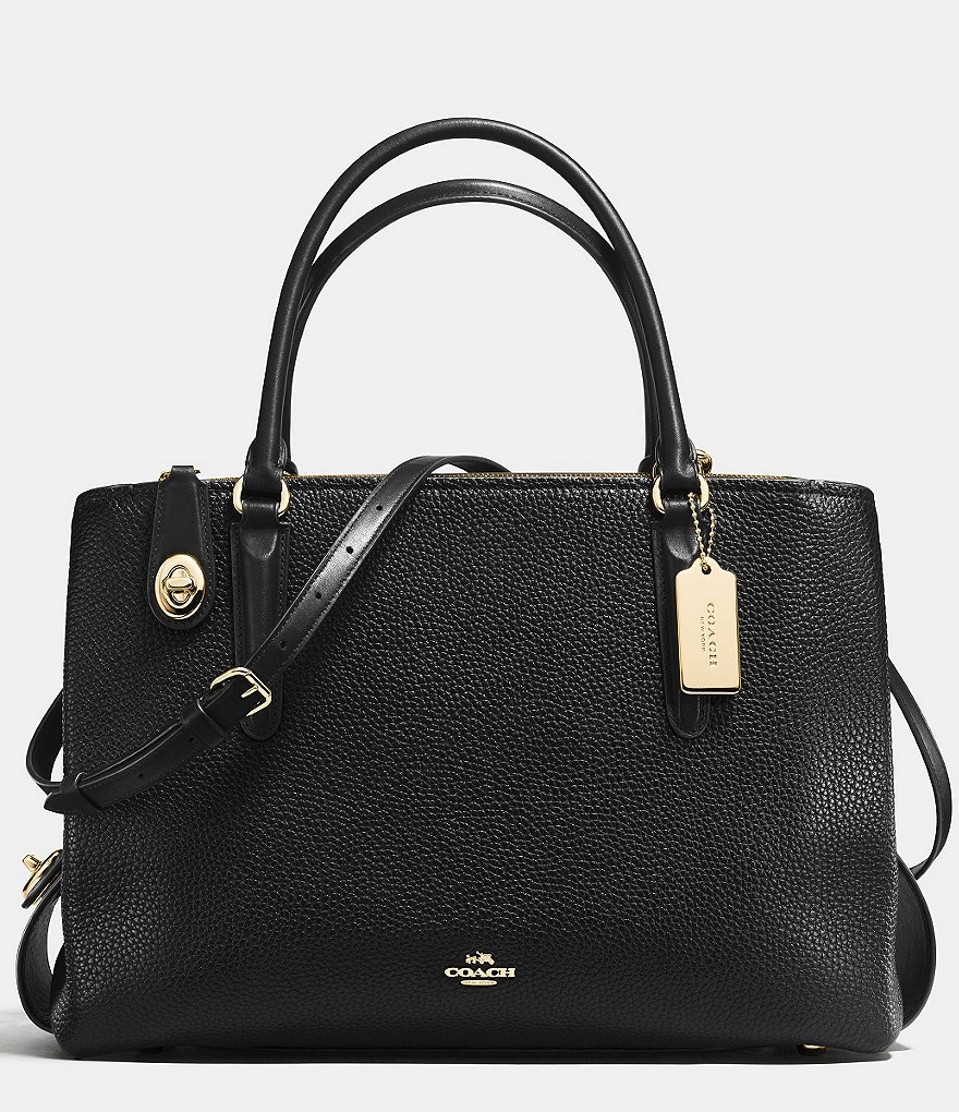 COACH BROOKLYN CARRYALL 34 IN PEBBLE LEATHER