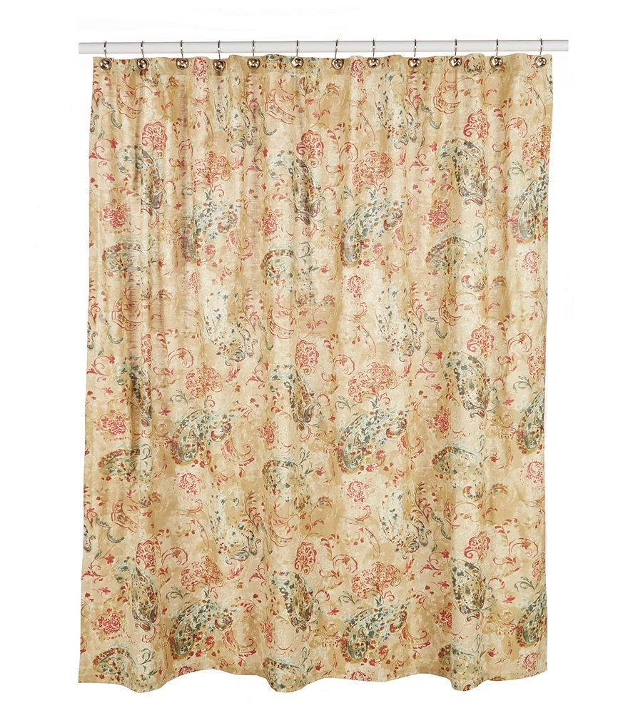 Noble Excellence Distressed Paisley Shower Curtain