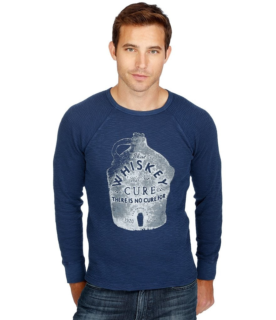 Lucky Brand Whiskey Cure Graphic Long-Sleeve Thermal