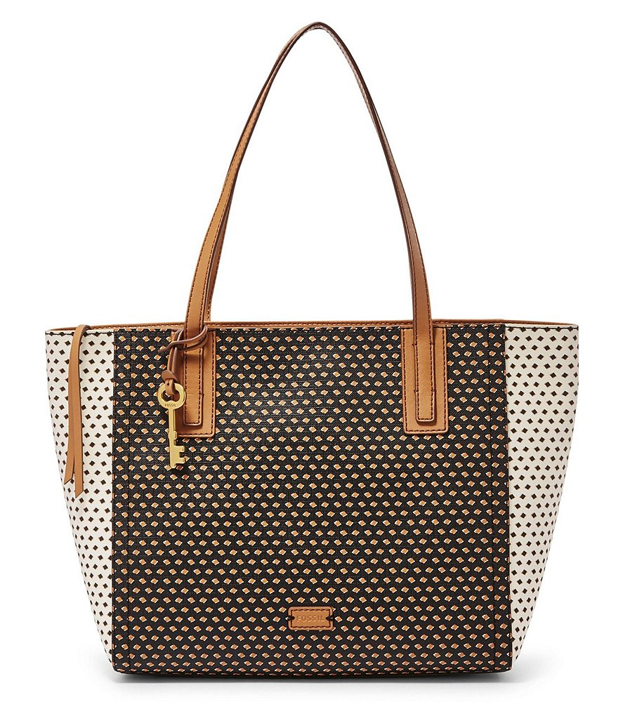 Fossil Emma Diamond-Dotted Tote
