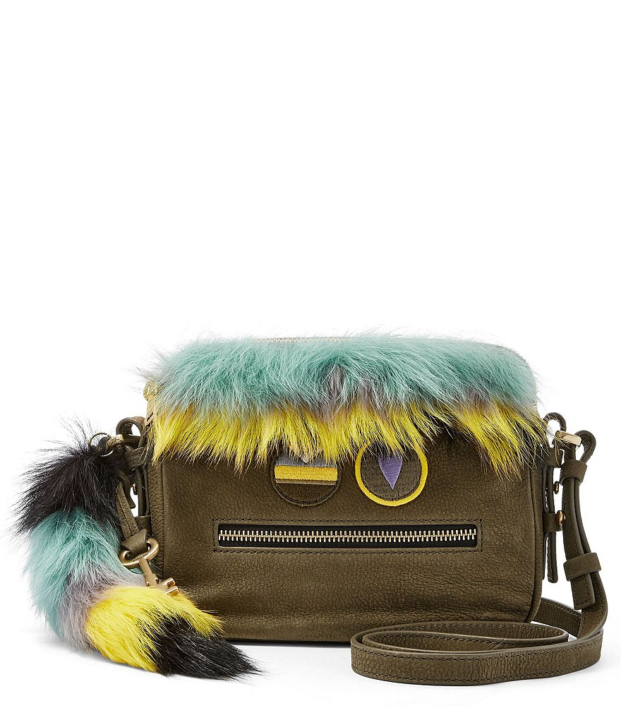 Fossil Piper Furry Toaster Cross-Body Bag