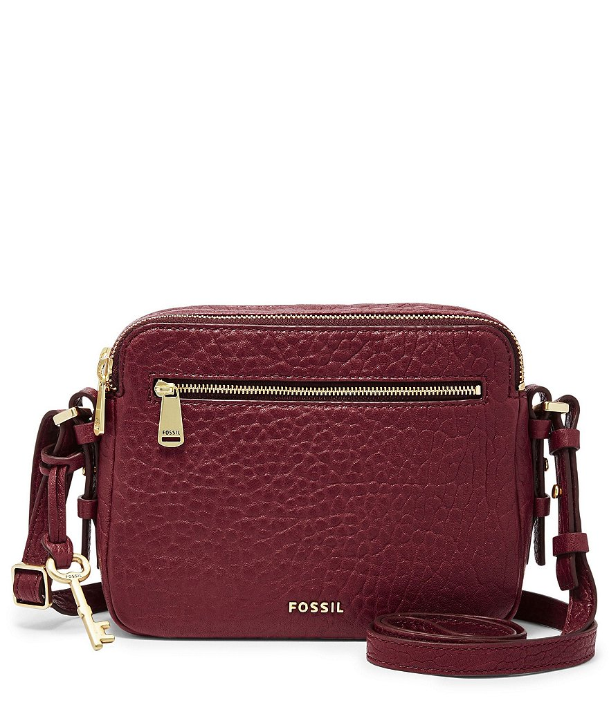 Fossil Piper Toaster Pebble Leather Cross-Body Bag