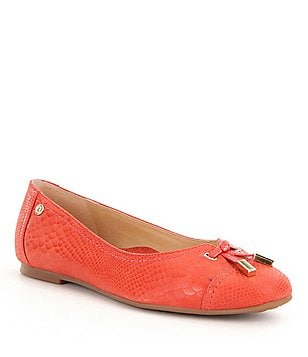Nurture Mayler Bow Cap-Toe Leather Bow Detail Slip-on Flats