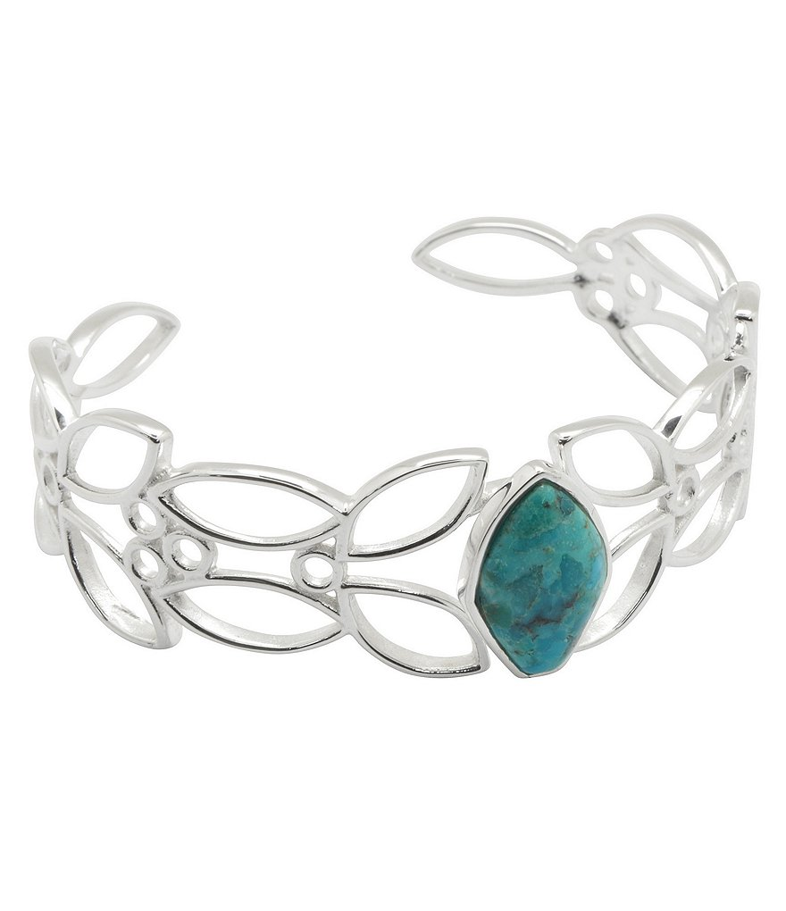 Barse Sterling Silver & Arizona Turquoise Cuff Bracelet