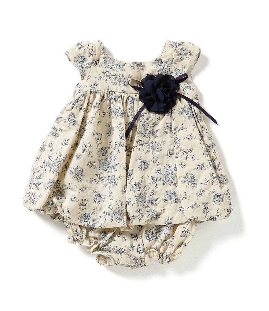 Laura Ashley London Newborn-24 Months Toille Print Dress