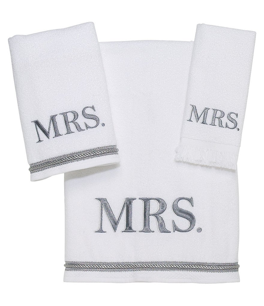 Avanti Linens Mrs. Velour Bath Towels