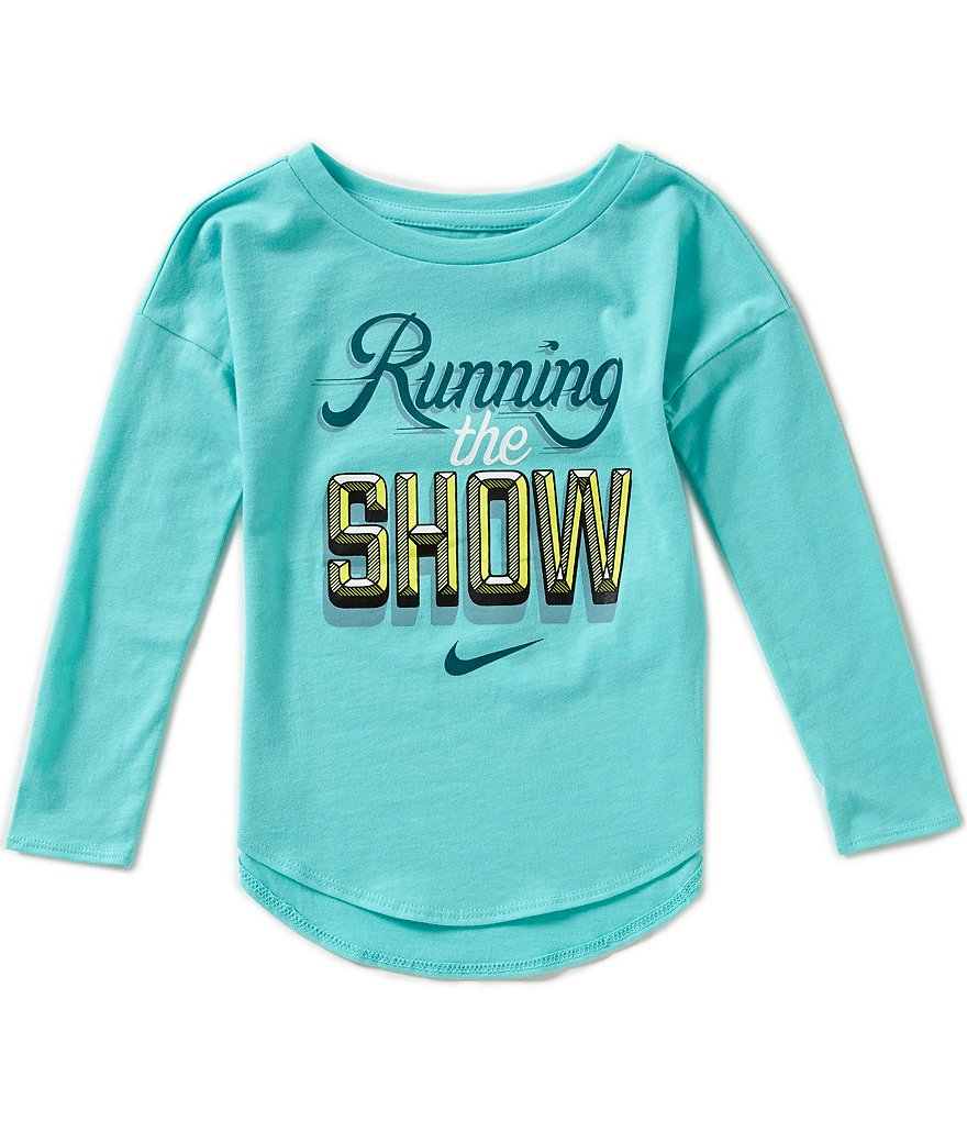 Nike Little Girls 2T-6X Running The Show Modern Tee