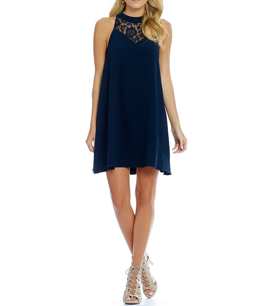 GB Lace Yoke Swing Dress
